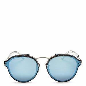 Dior Eclat Mirrored Round Sunglasses, 60mm | Bloomingdale's