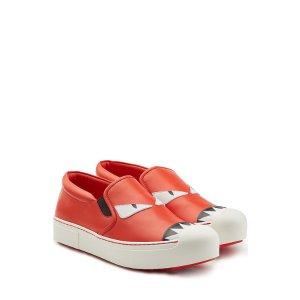 Leather Slip-On Sneakers - Fendi | WOMEN | US STYLEBOP.COM