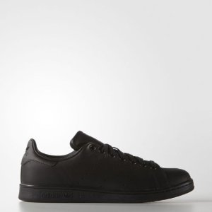 adidas Originals Men's Stan Smith Leather Black Athletic Sneakers | eBay