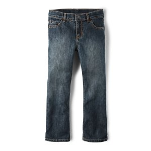 Boys Basic Bootcut Jeans - Dust Wash | The Children's Place