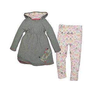 Toddler Hooded Dress & Legging Set