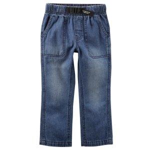 Buckled Denim Pants