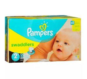 逆天神价 $2.39Pampers Swaddlers 纸尿片(2号,92片)