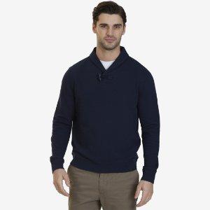Shawl Collar Sweater - Navy   Nautica