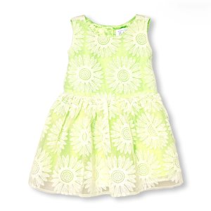 Toddler Girls Sleeveless Daisy Lace Dress   The Children's Place