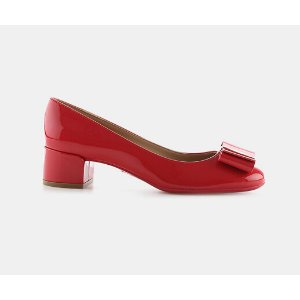 Salvatore Ferragamo Elinda 40 Patent Leather Vara Bow Pump Pumps | ELEVTD Free Shipping & Returns