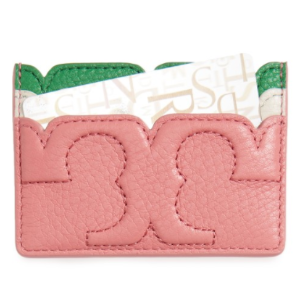 Tory Burch Scallop-T Slim Leather Card Case