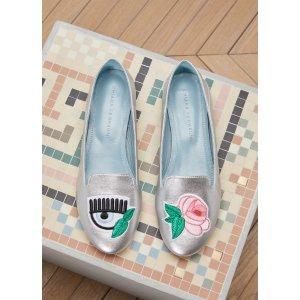 CHIARA FERRAGNI - Eye and rose slippers