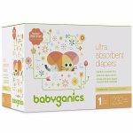 Babyganics Ultra Absorbent Diapers, Size 1