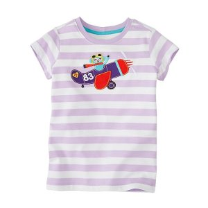 Girls Get Appy Appliqué Tee In Supersoft Jersey | Sale Girls Tops