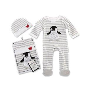 Amazon.com : Baby Aspen Penguin PJ Gift Set, Black/White/Multi, 0-6 Months : Baby