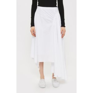 Cotton Ruched Skirt by Boutique