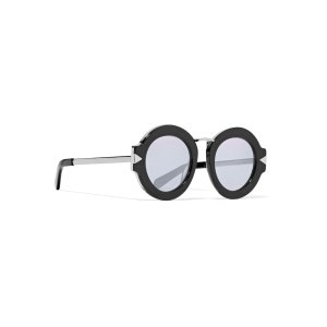 Superstars Maze round-frame acetate and metal sunglasses | Karen Walker