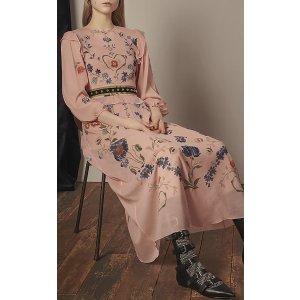 Floral Printed Silk Midi Dress | Moda Operandi