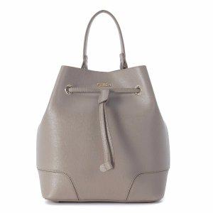 Furla - Furla Stacy Sand Leather Bucket Bag - 868942-SABBIAB, Women's Totes | Italist