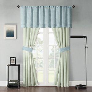 Beechwood Window Curtain Panel Pair and Valance - Bed Bath & Beyond