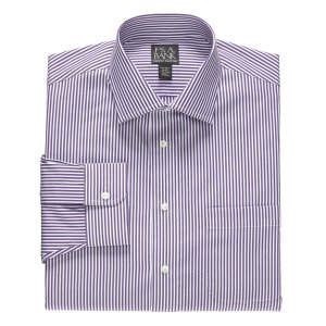 Executive Collection Tailored Fit Spread Collar Stripe Dress Shirt CLEARANCE - Dress Shirts | Jos A Bank