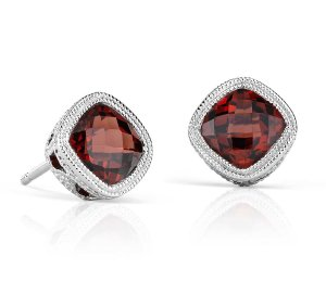 50% offCushion Garnet Stud Earrings in Sterling Silver @ Blue Nile!