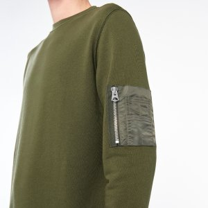 Enemy Sweatshirt With Nylon Pocket - Sweaters - Sandro-paris.com