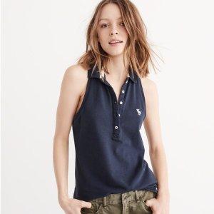 低至4折限今天,Abercrombie & Fitch 衬衫、裙装、Polo衫闪购