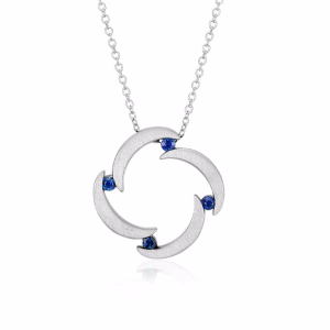 Bree Richey Sapphire Pendant in Sterling Silver (2mm) | Blue Nile