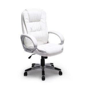 $73.94Bellezza 人体工程学 纯白色 办公皮转椅