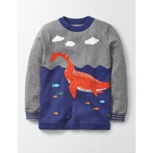 Logo Crew Sweater 23015 Knitted Sweaters at Boden