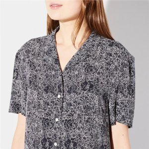 ASTOR SHIRT NAVY WHITE FLORAL | Steven Alan