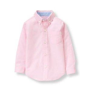 Baby Boy Pink Oxford Shirt at JanieandJack