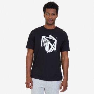 Dimension Logo Sleep T-Shirt - True Black | Nautica