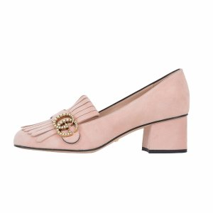 Gucci - Gucci Marmont Gg Perle T55 - 454297 C20005909, Women's Shoes | Italist