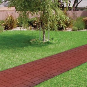 Plastic Deep Red Brick Pattern Resin Patio