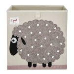 3 Sprouts Storage Box, Sheep, Beige
