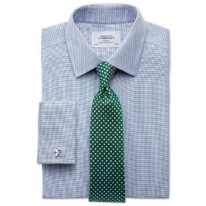 Extra slim fit non-iron imperial weave blue shirt