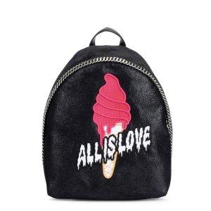 Stella Mccartney Black Sport Surf Small Backpack