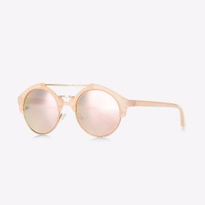 Round Lens Brow Bar Sunglasses
