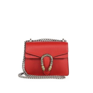 Mini Dionysus Leather Shoulder Bag by Gucci