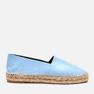 KENZO Women's Leather Tiger Espadrilles - Sky Blue - Free UK Delivery over £50