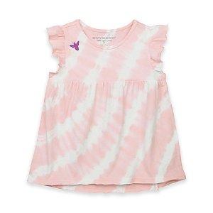 Burt's Bees Baby® Organic Cotton Tie Dye Tunic T-Shirt in Pink - buybuy BABY
