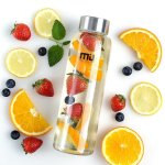 MIU COLOR 12oz Glass Water Bottle
