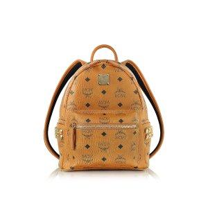 MCM Cognac Mini Stark Backpack at FORZIERI