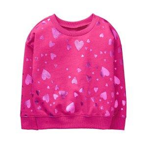 Shimmer Heart Pullover
