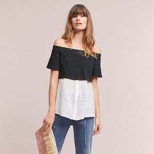 Layered Off-The-Shoulder Tunic