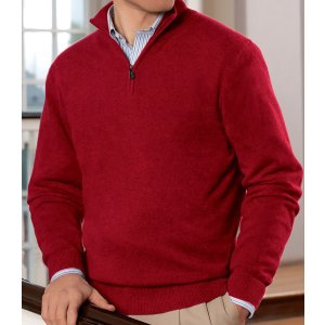 Traveler Cashmere Half-Zip Sweater Big/Tall CLEARANCE - All Clearance | Jos A Bank