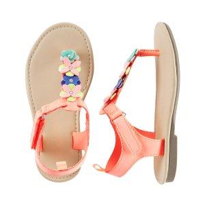 Toddler Girl Carter's Flower T-Strap Sandals | Carters.com