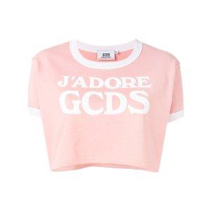 Gcds Logo Cropped T-shirt