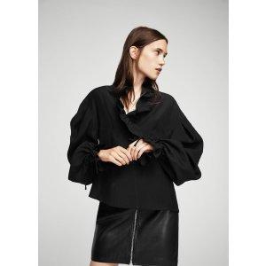 Ruffled puff sleeves blouse - Women