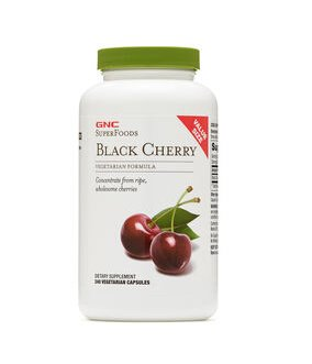 $12.99 GNC Superfoods Black Cherry - Value Size 240 Capsules