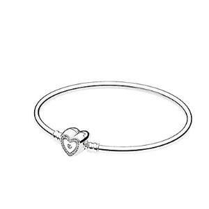 Rue La La — PANDORA Silver CZ Wishful Heart Bangle