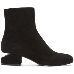 Alexander Wang: Black Suede Kelly Boots
